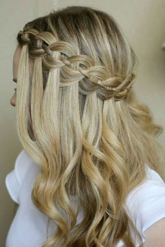 mother of the bride hairstyles waterfall braid with curls missysueblog