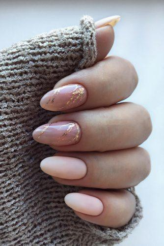 nail ideas wedding bridal nude pink nails with marble design nailartist_natali