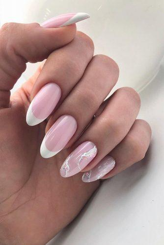 nail ideas wedding french and marble pink white bridal nails nailartist_natali