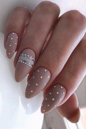 nail ideas wedding nude with white pins and silver stripes vintage nailartist_natali