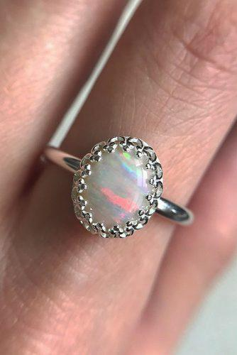 opal engagement rings halo white gold oval cut