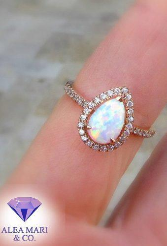 opal engagement rings tender peach opal ring aleamarico
