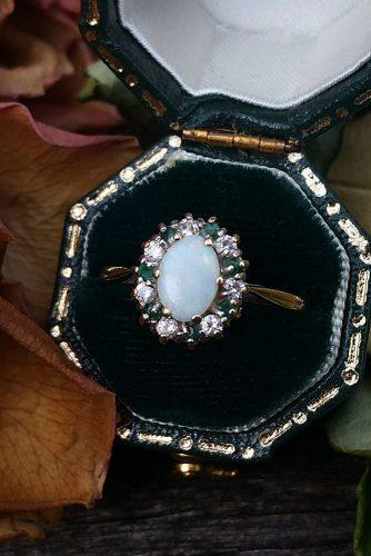 opal engagement rings vintage oval cut vintage gold