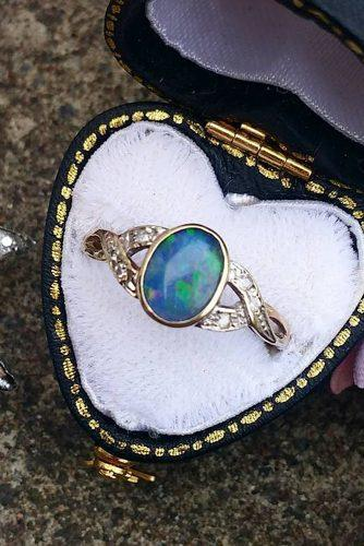 opal engagement rings white gold vintage oval cut