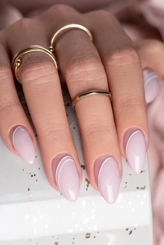 pinterest nails elegant simple gentle pink and white minimalist design indigonails