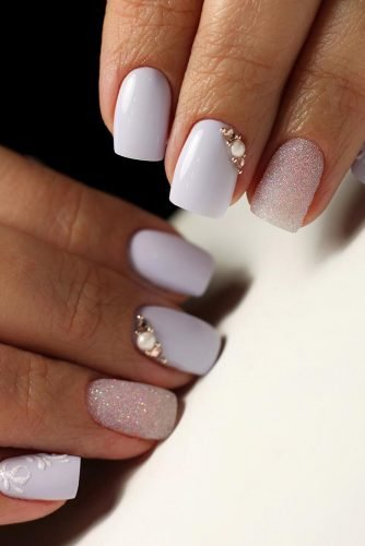 pinterest nails gentle pink white with rhinestones masternailsira