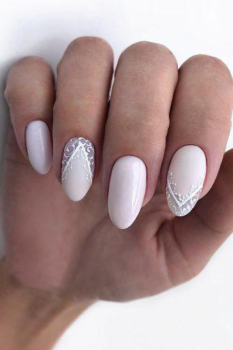 pinterest nails pink with white lace for wedding nailartist_natal