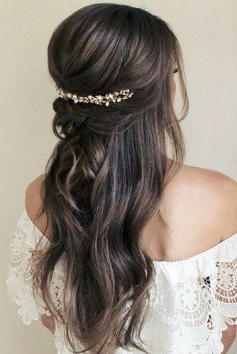 pinterest wedding hairstyles elegant feminity swept half up half down hair and makeup by steph