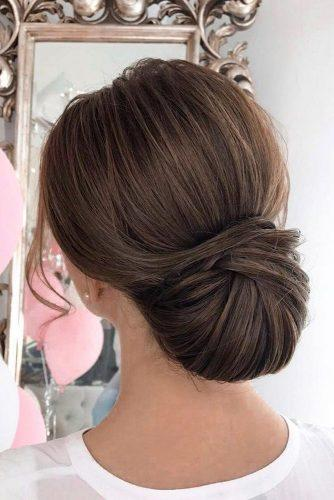 pinterest wedding hairstyles elegant smooth chignon elstilespb via instagram
