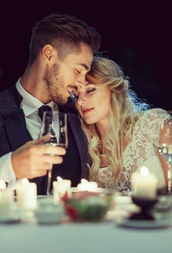 romantic photos wedding day couple and candles bliznetsoff
