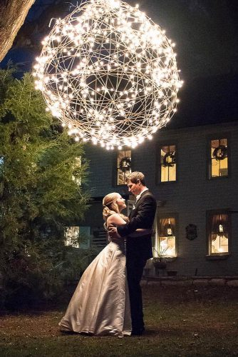 romantic wedding ball with lamp brookelynnphotography