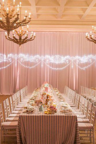 rose gold wedding decor table with flowers bretthickmanphoto via instagram