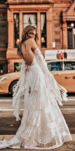 rue de seine wedding dresses a line flowy lace detached sleeves low back