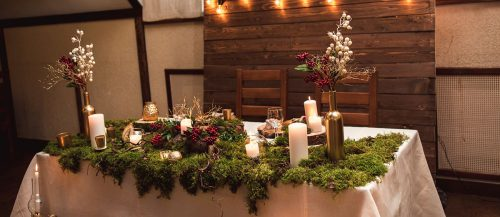 rustic wedding reception featured