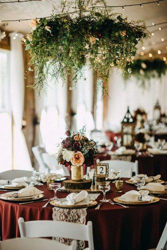 rustic wedding reception gold and rustic glam rad red creative