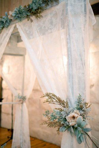 rustic wedding reception lace flower and greenery decoration kelly hornberger photography