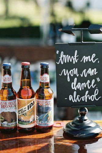 rustic wedding signs sign with beer jeremiahandrachel