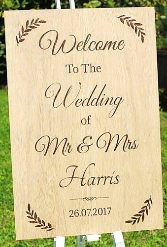 rustic wedding signs sign with wedding date littleorchardcreations