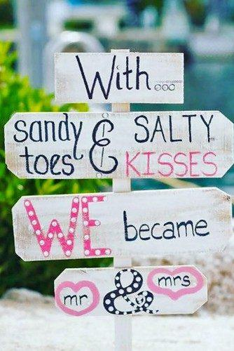 rustic wedding signs white singn with rose tetters Laura Murray Photography