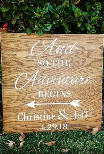 rustic wedding signs wood board with date lovethejunk
