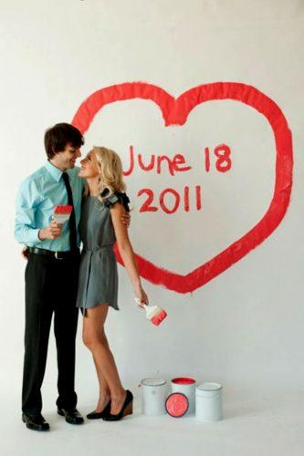 save the date photo ideas painted on a wall studio this is