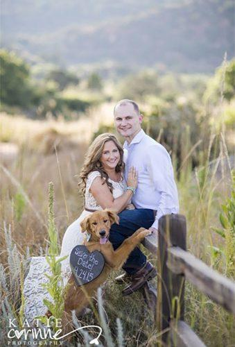save the date photo ideas savedate with dog Katie Corinne
