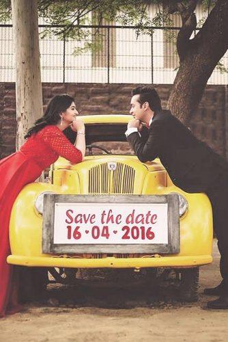 save the date photo ideas wooden on a car amangeraphotography via instagam