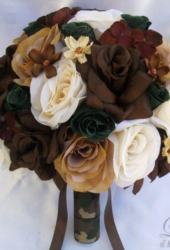 silk wedding bouquets camuflage bouquet lilyofangeles