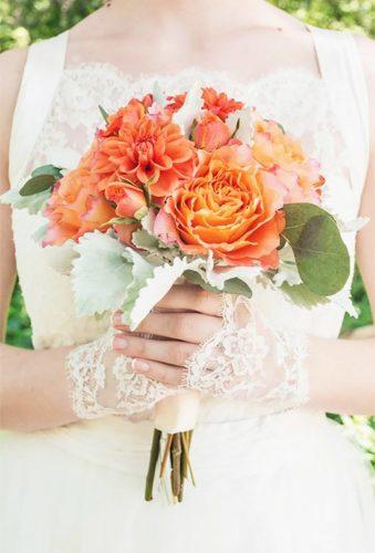 silk wedding bouquets orange wedding bouquet ludemas
