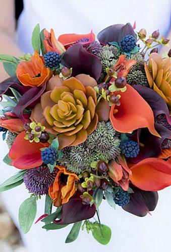 silk wedding bouquets rustic orange bouquet Wedideas