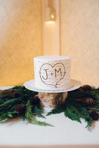 small rustic wedding cakes birch tree with heart jeff brummett visuals