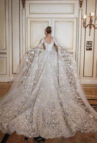 top wedding ideas said mhamad lace long tail saidmhamadofficial