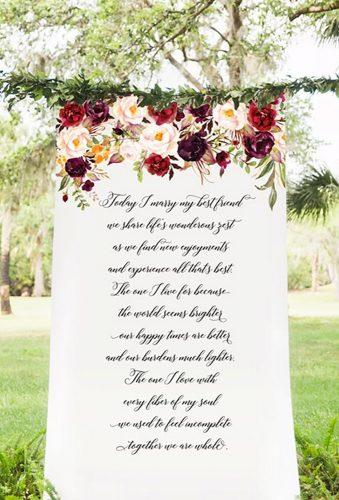 wedding backdrop ideas letter backdrop with flower ZCreateDesign