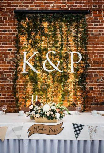 wedding backdrop ideas light backdrop with monogram wilga i kruk