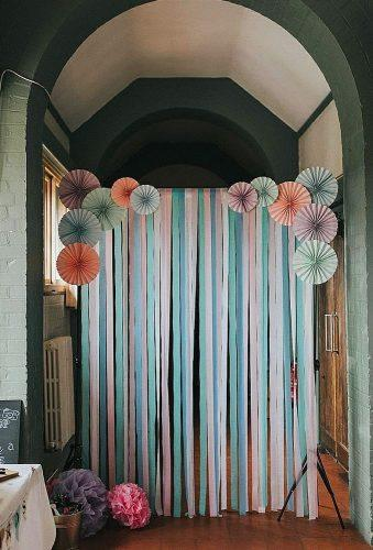 wedding backdrop ideas mint tape backdrop theweddingspark