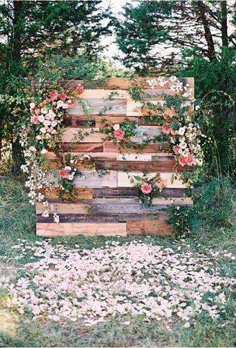 wedding backdrop ideas palette backdrop with flower Adam Barnes Photography