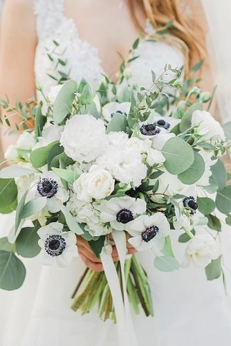 wedding bouquets white wedding bouquet eucalyptus