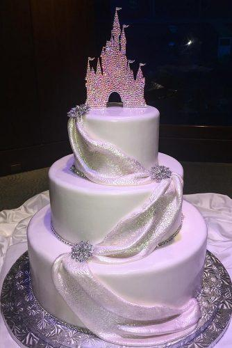 wedding cakes pictures castle topper disneybakerdcp