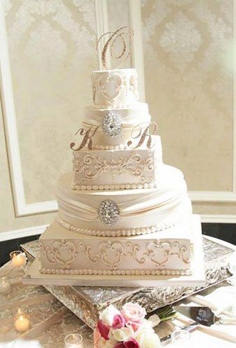 wedding cakes pictures white cake with monogram palermobakery
