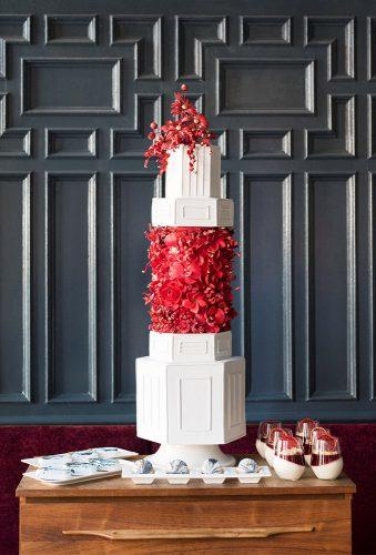 wedding cakes pictures white red cake vanillabeancakeryofficial