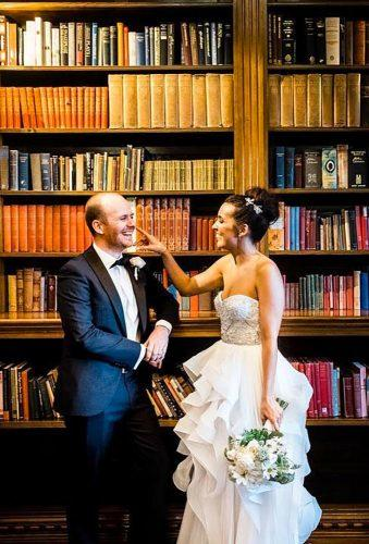 wedding entourage photo ideas couple in library harustudio sydney