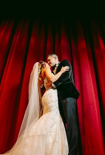 wedding entourage photo ideas couple in theater dennispikephoto