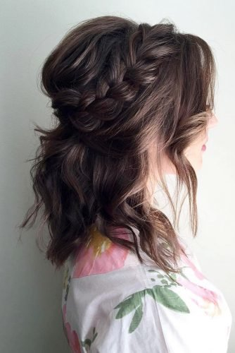 wedding hairstyles for curly hair volume braided half up half down sunkissedandmadeuph