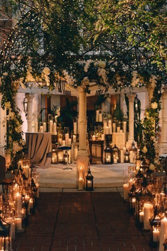 wedding ideas with candles elegant wedding ceremony with candles in dark darkroux