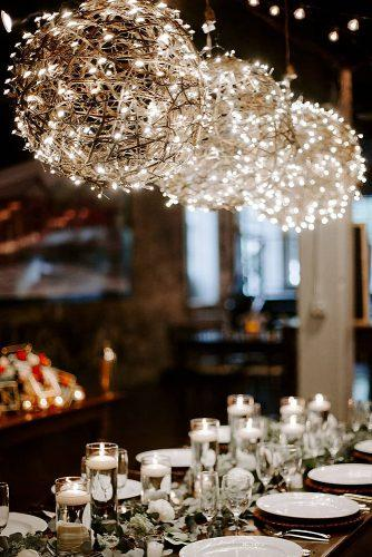 wedding ideas with candles hanging lanterns and candles on the table ashtonkelleyphotography via instagram