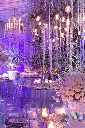 wedding ideas with candles reception with hanging flowers decor gonzalezhelfon