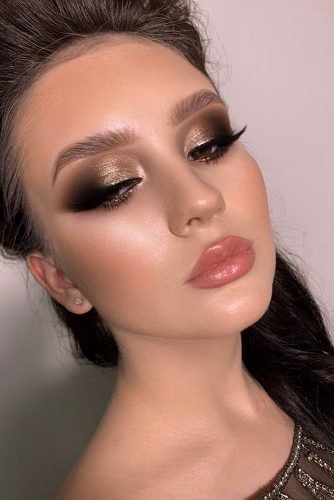 wedding makeup evening black gold smokey eyes elena_sanko_make_up