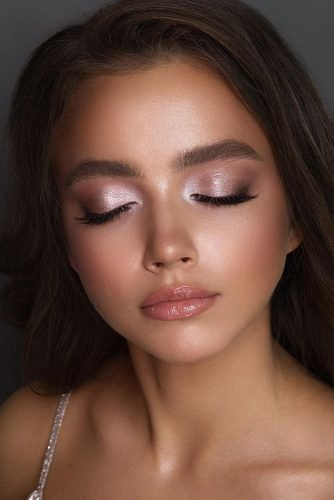 wedding makeup gentle light lilac makeup with nude lips vizagistvaleria