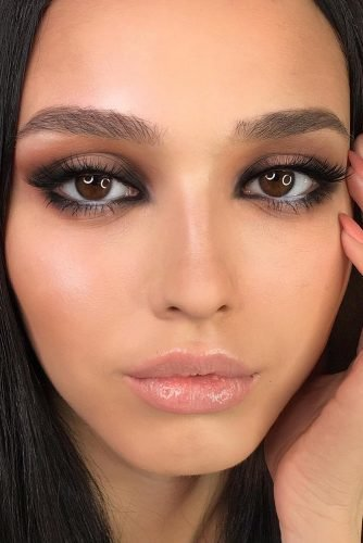 wedding makeup soft smokey eyes for dark eyes yana.yasnaya