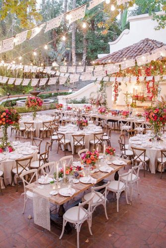 wedding reception decorations outdoor white and beige with bright colors and lace ornaments icasei oficial via instagram